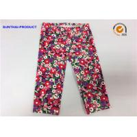 Quality Attractive Cute Baby Girl Leggings Abrasion Resistance With Trees / Flowers Printed wholesale