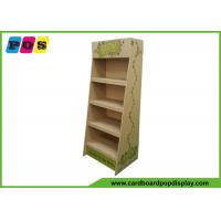 Buy cheap Kraft Brown Color Corrugated Floor Advertising Display Shelf with CMYK Printing FL211 from wholesalers