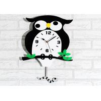 Quality Owl Animal Creative Wall Clocks Bedroom Alarm Wall Clock Battery Operated wholesale