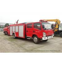 Quality ISUZU ELF 700P Fire And Rescue Trucks With 4 Ton Water Tank / Fire Pump wholesale