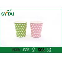 Quality Disposable Hot Drink Paper Cups , biodegradable coffee cups Single PE Coated wholesale