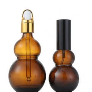 China Uniform Spray Volume Essential Oil Dropper Bottles , 30ml / 50ml Amber Glass Bottles on sale