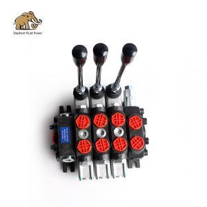 China DCV60 3 Spool Hydraulic Spool Valve Monoblock Anti Cavitation on sale