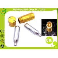 Quality Disposalbe Specialty Gas Equipment 8 Gram - 88 Gram CO2 Tank Mini Cylinder wholesale