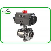 Quality Tri Clamp Sanitary Ball Valves With Aluminum Pneumatic Actuator , Non Retention wholesale