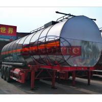 China Stainless Steel Petroleum Tank Trailers, 45 000 Liters 3 Axle Fuel Tank Trailer on sale