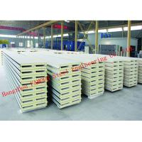 Quality 970mm Water Resistant Insulated PU Sandwich Panels for Prefab House Roof Panel wholesale