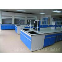 Quality All Steel Structure Laboratory Work Benches With High Grade PP Sink ISO9001 wholesale