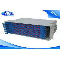 Quality Light Gray 48 Port Fiber Optic Patch Panel , Fiber Optic Splice Tray For FTTX Systems wholesale