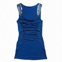 China Ladies' tank with shining sequin on sale