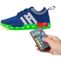 China Mesh Tenis Trainer Remote Control LED Shoes Full Size Low Top Flyknit For Kids on sale