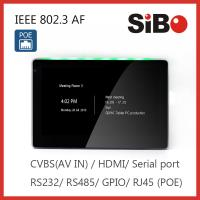 Quality Attendance System 7 Inch Wall Mounted Android POE Touch Screen With RGB LED Light wholesale