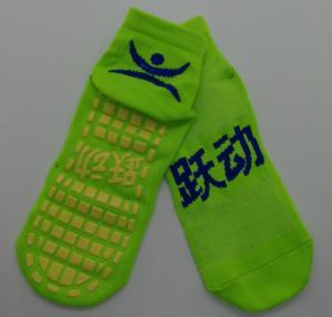 China Elastane Room Non Slip Socks , Jump Around Trampoline Grips Socks , Polyester Non Slip Slipper Socks on sale