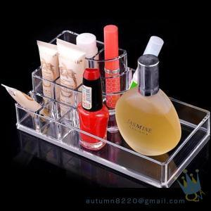 Quality acrylic cosmetic makeup organizer wholesale