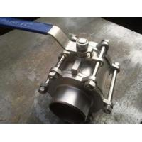 China Butt Welding 3 Piece Stainless Steel Ball Valve WCB / CF8 / CF8M BW PAD ISO 5211 on sale
