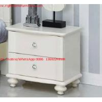 Cheap Ivory Classic Bed side table with wooden drawers for Nightstand design used by Hotel and Villa Furniture for sale