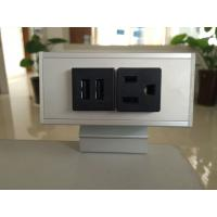 Quality Desk Mounted Power Sockets with 1 Outlets & 2 USB Ports , Metal Tabletop Outlet 125V 15A wholesale