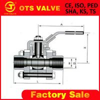 Quality 3 piece body ball valve with Internal/Female thread wholesale