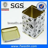 Quality rectangular pet food tin box pet food tin can wholesale
