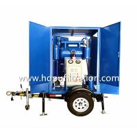 Quality Mobile Trailer Trolley Mounted Transformer Oil Purifier, Cable Oil Degassing Unit, Filtration solutions site working wholesale