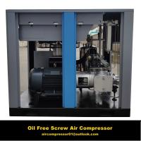 Quality Food industry use 30hp Oil Free screw air compressor water injection 100% oil free wholesale