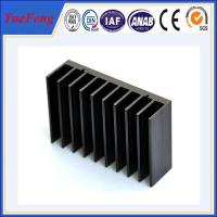 China Black anodized aluminum extrusion profile supplier, supply aluminum radiator extrusion on sale