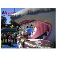 Cheap Giant Inflatable Shark Slide 8M Inflatable Sports Games Toddler Outside Toys for sale