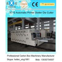 Quality Speed 120 Pieces / Min Carton Making Machine Water Ink Flexo Printer Slotter wholesale
