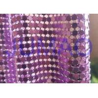 China Rust Proof Metal Sequin Fabric No Electrical Conductivity For Ceiling Decorations on sale