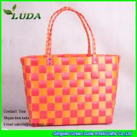 China LUDA ladies plastic beach bag fashion pp woven shopping bags on sale