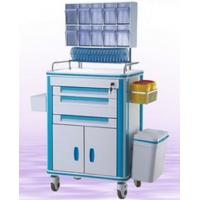 Quality Hospital Crash Cart Medical Trolley, Plastic Trolley Cart, Made In China Cheap Multi-Function Medical Trolley Cart wholesale