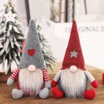 Quality Embroidery Logo Pp Cotton Animated Christmas Plush Blind Santa Claus Long Beard wholesale