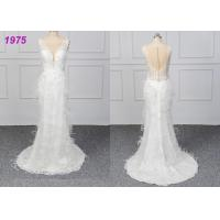 Quality Strapless Luxury A Line Ball Gown Wedding Dress , White Ball Gown Dress wholesale