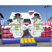 Quality Inflatable Party Combo Jumping Castle Snowman Archway Christmas Moonwalk wholesale