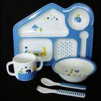 China Five-piece Melamine Baby Dinner Set with Over 800 Melamine Dinnerware are Available on sale