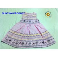 Quality Sleeveless Little Girl Summer Dresses 100% Cotton Woven With Different Flower AOP wholesale