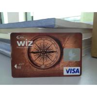 Quality New Design VISA Smart Card / Prepaid Debit Card Plastic with HICO Mag-stripe wholesale