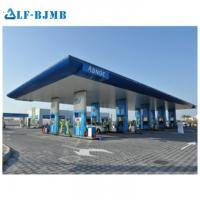Quality High standard  Fast Install Station Roofing System Shell Gas Petrol Station Steel Structure Canopy wholesale