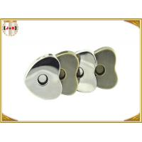 Quality Custom Heart Shaped Magnetic Bag Buttons Clasps Various Surface Finishes wholesale