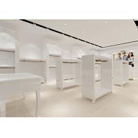 Cheap Retail Store Furniture / Children'S Store Fixtures White Lacquer Finished Surface for sale