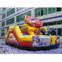 Quality Promotion Commercial Small Cartoon Car Inflatable Slide For Outdoor Entertainment wholesale