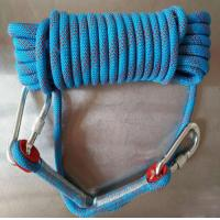 Cheap high quality 10.5mm polyester safery braided rope used for mountain climbing and rescue for sale