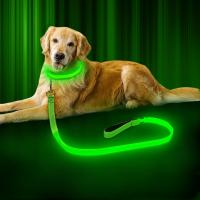 China USB Rechargeable LED Dog Leash 47.2 Inch 120cm Reflective Night OEM ODM Available on sale
