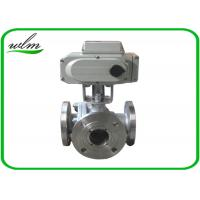 Cheap Light Weight Sanitary Ball Valves Aluminum Pneumatic Actuator , Flanged Connection End for sale