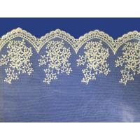 China African lace fabrics Embroidery Lace Fabric cord guipure white lace fabric on sale