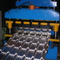 China Forming Speed 8-12 M/Min Roof Panel Roll Forming Machine , Metal Glazed Tile Cold Forming Machine on sale