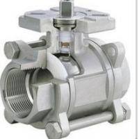 China 3-pc stainless steel ball valves full port 1000wog BSPP NPT ISO-5211 DIRECT MOUNTING PAD on sale