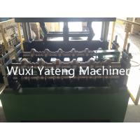 Trapezoid Roofing Sheet Bending Machine , Two Stands Feeding Rollers Precision Metal Roofing Roll Former Machine