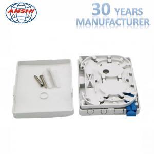 Quality FTTH PTO Fiber Distribution Box Screw Lock ABS Material 2 Core SC Capacity wholesale