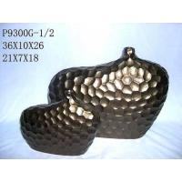 China Ceramic Stoneware Vase Stone Feeling with Brown / Home Decoration Vase/ Fondue Set on sale
